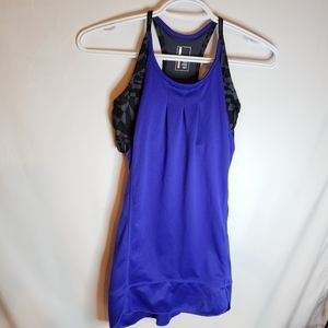 3/$20 Mondetta blue workout top with built-in bra